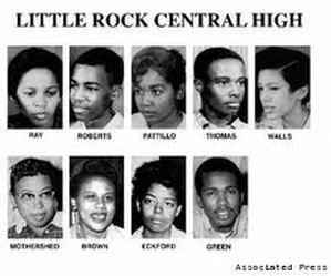Image result for nine black students little rock arkansas